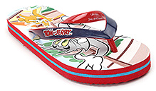 Tom And Jerry Red Flip Flop - Tom And Jerry Print
