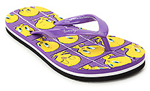 Tweety Purple Tweety Print Flip Flop