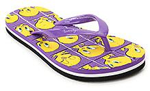Tweety Purple Tweety Print Flip Flop