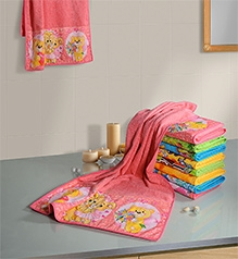 Swayam Digitally Printed Teddy Bear Reversible Kids Towel