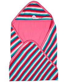 Buzzy Double Layered Hooded Cotton Wrapper - Multicolor