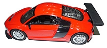 Adraxx Remote Control Red Sports Car Model With Headlights