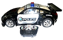 Adraxx Super Fast Police Car Chase Model With Versatile Remote Control And Police Flashing Lights - Scale 1: 8