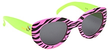 NeedyBee Zebra Print Sunglass - Green And Pink