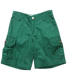 Campana Green 6 Pockets Cargo Shorts