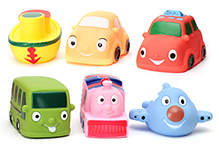 Toyzone Transport Vehicles Vinyl Squeezy Toy 6 Pieces