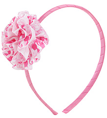 Barbie Pink Hair Band With Flower Embellishment - 13 X 10.5 Cm