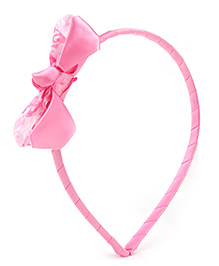 Barbie Pink Hair Band With Bow Embellishment - 13 X 10.5 Cm