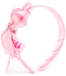 Barbie Pink Ribbon Multi Frills Hair Band - 12.5 X 11.5 Cm