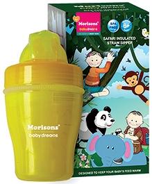 Morisons Baby Dreams Safari Insulated Straw Sipper Yellow - 120 ml