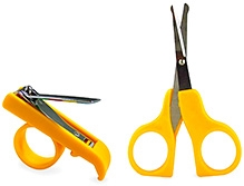 Littles Nail Clipper And Scissor Yellow Carefully designed to be easy and comfortable to use