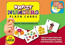 Krazy Numbers Flash Cards With Ring