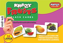 Krazy Fruits Marathi Flash Cards - 26 Flash Cards - 23 x 16 x 3 cm