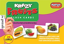 Krazy Fruits Gujarati Flash Cards - 26 Flash Cards - 23 x 16 x 3 cm