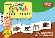 Krazy Animals Gujarati Flash Cards - 26 Flash Cards - 23 x 16 x 3 cm