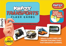 Krazy Transport Telegu Flash Cards With Plastic Ring - 26 Large Flash Cards