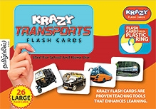 Krazy Transports Tamil Barakhadi Flash Cards With Plastic Ring - 26 Large Flash Cards