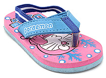 Doraemon Broad Strap Dual Colour Flip Flop - Back Strap