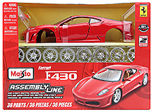 Maisto Die-Cast Ferrari F430 Assembly Line - Red