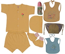 JO Kidswear Yellow Printed Baby Gift Set