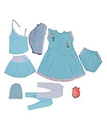 JO Kidswear Clothing Gift Set With Feeding Bottle - Blue