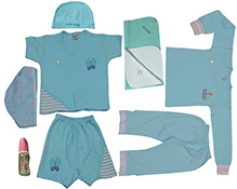 JO Kidswear Blue Clothing Gift Set With Cap
