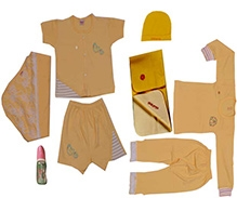 JO Kidswear Yellow Clothing Gift Set With Cap