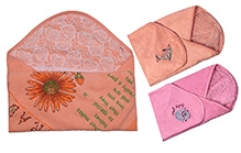Jo Kidswear Hooded Baby Towel Set - Orange And Pink