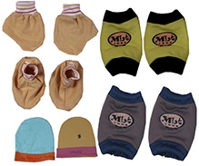 JO Kidswear Cap Booties Mittens And Knee Pads - Multi Color