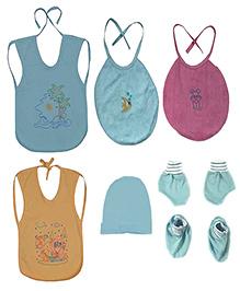 JO Kidswear Blue Baby Bibs Set