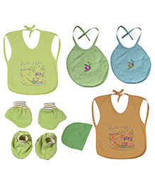 JO Kidswear Green Baby Bibs Set