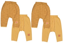 JO Kidswear Yellow Diaper Leggings - Set Of Four