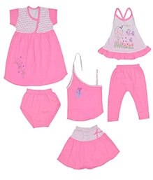 JO Kidswear Clothing Gift Set With Leggings - Pink - 0 to 3 Months