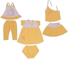 JO Kidswear Clothing Gift Set With Leggings - Yellow - 3 To 6 Months