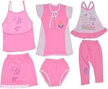 JO Kidswear Pink Clothing Gift Set - Pack Of Six