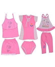 Jo Kidswear Pink Clothing Set - Pack of Six