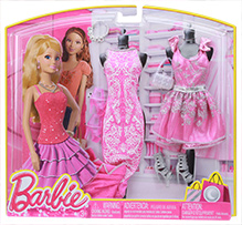 Barbie Alluring Colorful Stuff 3 Year Plus, Barbie fashion collection includes 2 dress, 2 footwear, 1...
