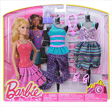 Barbie Alluring Colorful Stuff 3 Years Plus, Barbie fashion collection includes 2 dress, 2 footwear,...