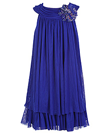 Peaches Yoke Style Royal Blue Party Dress