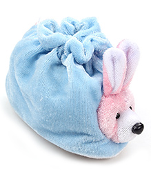 Morisons Baby Dreams Soft Bear Baby Booties - Blue