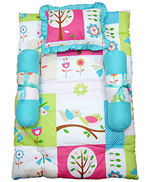 Nina Baby Mattress Set - Birds Print