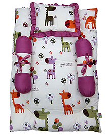 Nina Baby Mattress Set - Giraffe Print