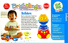 Leap Frog Brightlings Builders 6 Months and above, Box dimension 35.6 x 30.5 x 8.9 cm, Rattle, roll,...