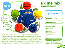 Leap Frog Fix The Mix Sequencing Game 3 to 6 years, Box dimension 25.4 x 26.67 x 6.35 cm, Twist, roll, push,...