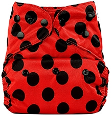 Bumberry Cloth Diaper Cover With Insert Bright Red