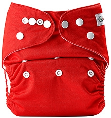 Bumberry Pocket Cloth Diaper With Insert Red