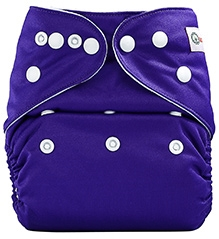 Bumberry Pocket Cloth Diaper With Insert Bright Purple