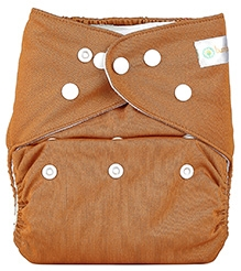 Bumberry Pocket Cloth Diaper With Insert Brown