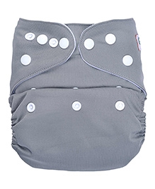Bumberry Pocket Cloth Diaper With Insert Grey - Free Size