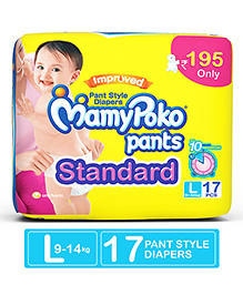 Mamy Poko Pants Standard Pant Style Diapers Large - 17 Pieces